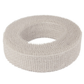 jute lint wit | 5 cm breed
