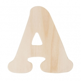 houten letters 11 cm
