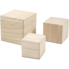 blanco houten blokken