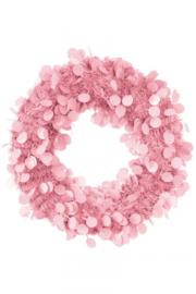 decoratie krans | baby roze