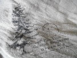 Shabby doek | kerstboom 45 x 45
