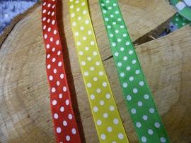 lint | rood/geel/groen met witte stippen
