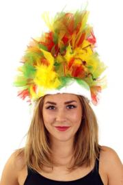 hoed rood/geel/groen