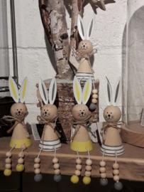 houten konijntjes