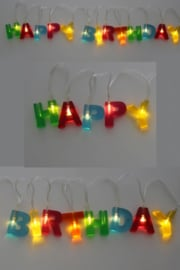 letterslinger met licht | Happy Birthday