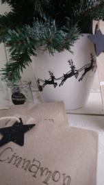 statische raamstickers | kerstman in slee