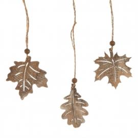 houten herfstbladeren
