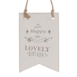 houten hanger vlag | Lovely Birthday