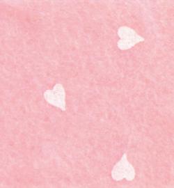 vilt met hartjes baby roze