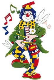wanddecoratie clown met trommel