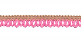 gebreid sierband zand/roze 9mm