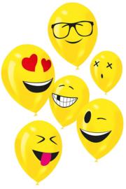 gele ballonnen met smiley