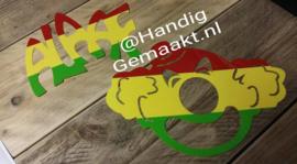 alaaf of clown rood/geel/groen
