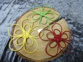 pitriet bloemen | rood/geel/groen