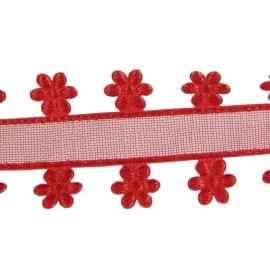 organza flower rood
