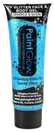 UV glitter face & body gel | blauw
