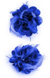 bloem met veertjes | blauw