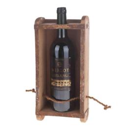 vintage houten wijnhouder