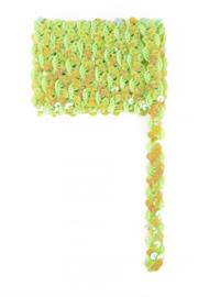 paillettenband golvend lime groen