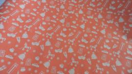 kraft inpakpapier sinterklaas | rood met print