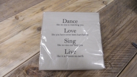 Duni servetten | dance love sing live
