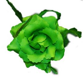 broche bloem groen