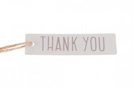 metalen label thank you