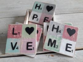 houten onderzetters | hope love home