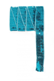 paillettenband plat turquoise