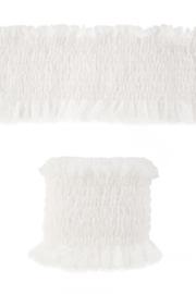 luxe elastisch kant wit