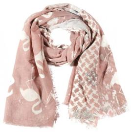 sjaal flamingo /glitters