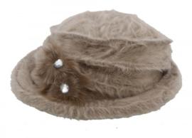 wollen hoed licht bruin