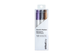 Cricut Joy ™ metallic  marker pens 1,0 mm paars/zilver/koper