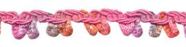 multicolor lusjesband roze/meloen/grijs