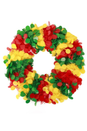 deurkrans 45 cm confetti rood/geel/groen