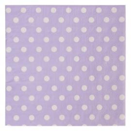 papieren servetten lila met stippen