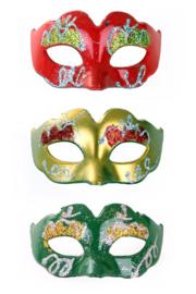 MINI oogmasker rood/geel/groen