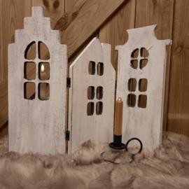 3-luik houten huisjes