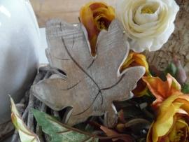 herfstblad hout