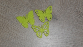 kleine vilten vlindertjes | groen