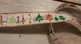 kerstlint bont kerstbomen
