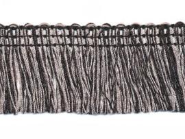 tweekleurig franjeband zwart/wit