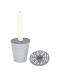 zinken deksel kaarsenhouder | medium