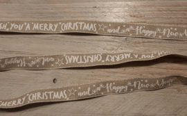 beige lint I wish you a merry christmas