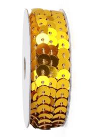 2,75 mtr paillettenband goud