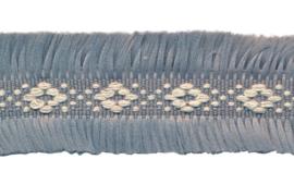 grijs 2-zijdig franjeband