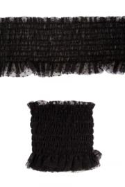 luxe elastisch kant zwart