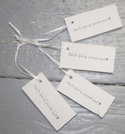 wit houten cadeau label