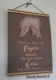 tekstbord  | als je niet in engelen gelooft...