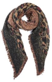 sjaal | animal print bruin